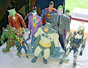 DC COMICS & MARVEL SUPERHERO & VILLAIN ACTION FIGURES - VARIOUS SUPERHEROES VGC