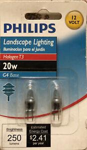 Philips 20w 12 Volt T3 G4 Halogen Light Bulb Landscape Lighting BC20W/T3/12V NEW