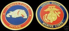 US MARINES PRIVATE PVT CHALLENGE COIN RANK E-1 MCRD GRADUATION PROMOTION GIFT