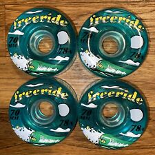 Free Ride Sector 9 Transparent Blue Longboard Wheels 70mm 78a