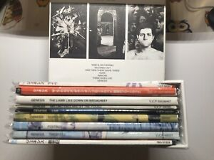 GENESIS! JAPAN MINI LP 9 TITLES + PROMO BOX 'The Lamb Lies Down on Brodway' SET