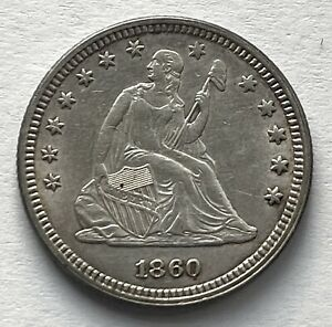 1860 SEATED LIBERTY QUARTER - NICE CONDITION