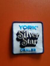 New ListingYork heating and air conditioning silver star dealer employee uniform patch