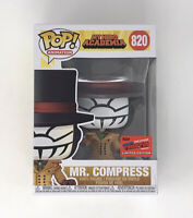 OFFICIAL NYCC 2020 CON STICKER! FUNKO POP MY HERO ACADEMIA MR. COMPRESS SOLD OUT