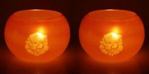 Ganesha Glass Candle Light Holder Tea Light StandCandle Décor- Set Of 2