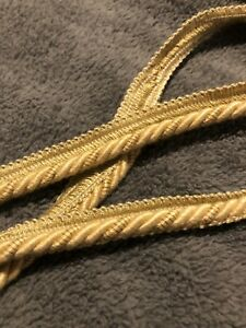 50 MTRS UPHOLSTERY FLANGED PIPING CORD COL GOLD  CRAFT TRIMMINGS UPHOLSTERY