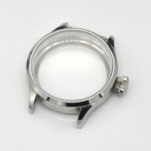43mm Watch Case 316L Polishing Stainless Steel Sapphire Glass Fit ETA 6497 6498
