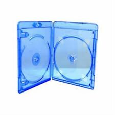 200 Double Blu ray Slim Cases 11mm Spine Replacement Cover Holds 2 Disks HQ AAAA