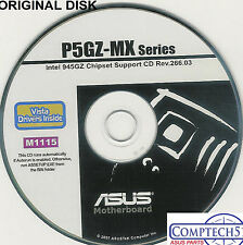 ASUS GENUINE VINTAGE ORIGINAL DISK FOR P5GZ-MX Motherboard Drivers Disk M1115