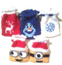Bolsas De Regalo De Navidad Tejer patrón, Minions y congelado
