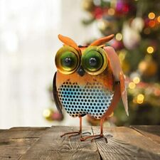 Metal Solar Owl Figurine Decor LED Animal Light Patio Yard Garden Lawn Porch Art