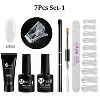 MTSSII 7pc/set Poly Quick Building Gel Kit Nail Extension Set Top Base Coat Tool
