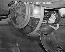 USAAF WW2 B-17 Bomber Ball Turret Gunner 8x10 Photo WWII
