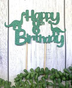 Dinosaur Happy birthday Cake Topper...Choose Age & Colour .......