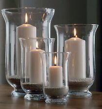 Windlichter aus Glas 4-teiliges Set - Kerzenhalter Kerzenständer Teelichthalter