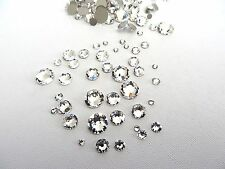 144 Clear Crystal Swarovski Flatback Rhinestones Mixed Sizes 5ss - 30ss Nail Art