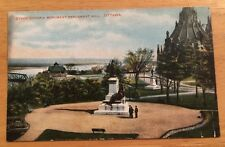Queen Victoria Monument Parliament Hill OTTAWA ON early unused divided postcard