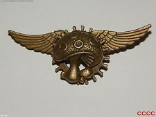 Lo Steampunk Goth Spilla Badge BRONZO PIGNONE INGRANAGGIO Flying Wings ovolacci larp cosplay