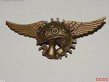 steampunk goth brooch badge bronze cog gear flying wings toadstool larp cosplay