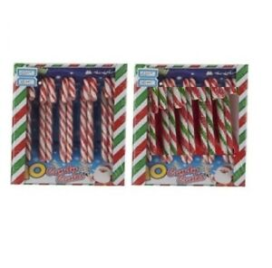 20 Peppermint Flavour Christmas Tree Striped Wrapped Candy Cane Sweet