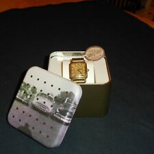 Vintage Fossil Tank Watch NOS !   Outstanding !!!!  Running !!!!