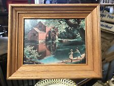 "Vintage 8"" X 6"" Framed Paul Detlefsen Print In Solid Oak 10.5 X 8.5 Frame"