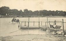 c1907 Lithograph Postcard; Rio Grande Ferry, Mexican Soil from Brownsville Tx