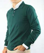 MAGLIA UOMO POLO 3 BOTTONI CASHMERE BLEND,MADE IN ITALY.TG M-L-XL-2XL-3XL