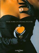 Publicité ancienne Parfum Magie Noire Lancôme  non parfumé