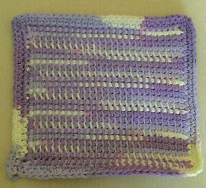 Handmade 100% cotton Tunisian crochet face cloth/dishcloth - ecofriendly/ lilac