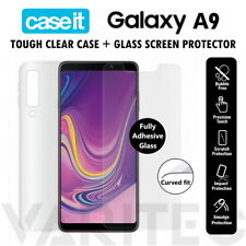 Samsung Galaxy A9 Clear Case Cover and Tempered Glass Screen Protector for A9