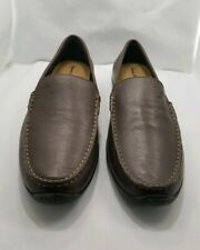 Tommy bahama brown leather Loafers mens 11D
