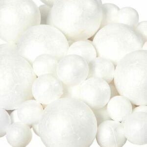 100-Pack Styrofoam Balls, Round Polystyrene Foam Ball for Arts, 3 Assorted Sizes
