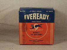 Vintage Battery Eveready Radio A Battery USA 4 1/2 Volt 3 F