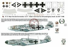 Peddinghaus 1/48 Bf 109 F-4 and A-7/R3 Markings Heinz  Bär WWII (2 choices) 731