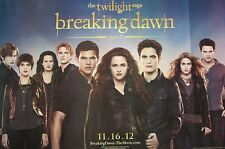 """TWILIGHT SAGA """"CAST OF BREAKING DAWN - PART 2 STANDING TOGETHER"""" MOVIE POSTER"""