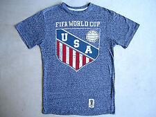 Team USA Soccer Fifa World Cup Brazil 2014 T Shirt Futbol SMALL EUC