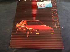 1988 Dodge Shadow Color Brochure Catalog Prospekt
