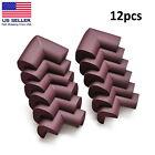 12PCS Brown Child Baby Desk Table Corner Edge Protector Soft Foam Cushion Guard