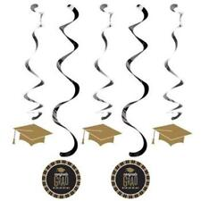 Glitzy Grad Hanging Danglers 5 Pack Graduation Party Decoration