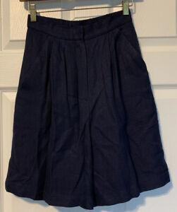 Vintage Maggie London Petites Dressy Pleated Rayon Shorts Size 4 Elastic Back