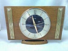 Vintage Mid Century Metamec Mantle Clock Original Quartz Full Working ID2300 B38