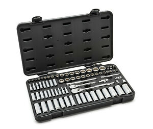 GearWrench 76pc SAE/Metric Master 12-Point Socket Ratchet Set 1/4 & 3/8dr #80948