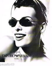 PUBLICITE ADVERTISING 085  2004  EMPORIO ARMANI lunettes solaires MILA JOVOVICH