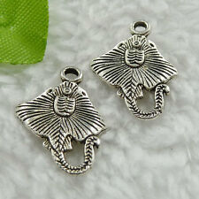 Free Ship 240 pieces tibet silver fish charms 20x15mm #405