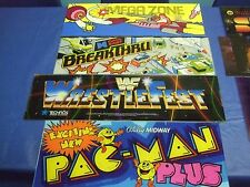 Arcade Video Game MARQUEES - HUNDREDS of different ones at Super Low Prices!