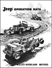 willys car \u0026 truck service \u0026 repair manuals ebay1946 1947 1948 1949 jeep cj 2a operation data manual for accessories willys cj2a
