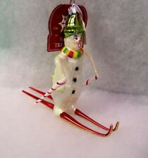 New Slavic Treasures Glass Ornament - Frosty Ski Jump Retired 2002