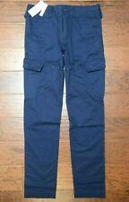 Lacoste Men's Slim Fit Navy Blue Cotton Casual Cargo Pants W40 L32 EU 50