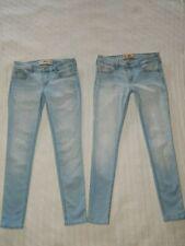 Lot of 2 HOLLISTER ― 3 SHORT ― SUPER SKINNY Light Denim Jeans ― #113A